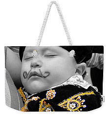 Weekender Tote Bag featuring the photograph Cuenca Kids 891 by Al Bourassa