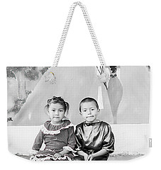 Weekender Tote Bag featuring the photograph Cuenca Kids 896 by Al Bourassa