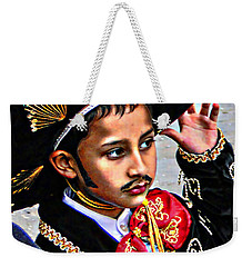 Weekender Tote Bag featuring the photograph Cuenca Kids 897 by Al Bourassa