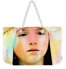 Weekender Tote Bag featuring the photograph Cuenca Kids 899 by Al Bourassa