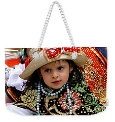 Weekender Tote Bag featuring the photograph Cuenca Kids 900 by Al Bourassa