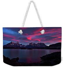 Cuernos Sunrise Part 2 - Chile Weekender Tote Bag by Stuart Litoff