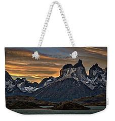 Cuernos Sunset Begins #2 - Patagonia Weekender Tote Bag by Stuart Litoff