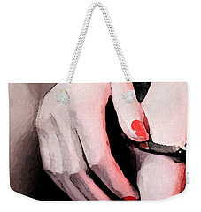 Weekender Tote Bag featuring the painting Cuffed by Tbone Oliver