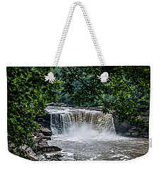 Weekender Tote Bag featuring the photograph Cumberland Falls by Joann Copeland-Paul