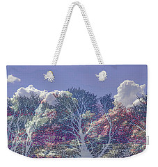 Weekender Tote Bag featuring the photograph Cumulus And Trees by Nareeta Martin