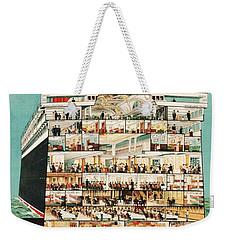 Cunard Liner Poster Weekender Tote Bag