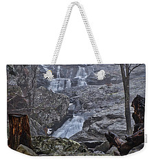 Weekender Tote Bag featuring the photograph Cunningham Falls In The Rain And Fog by Mark Dodd