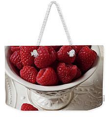 Cup Full Of Raspberries  Weekender Tote Bag by Garry Gay