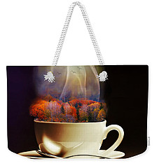 Cup Of Autumn Weekender Tote Bag by Lilia D