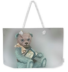 Cupcake Figurine Weekender Tote Bag by Linda Phelps