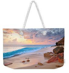 Cupecoy Beach Sunset Saint Maarten Weekender Tote Bag