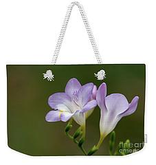 Cupertino Lavender Freesias Weekender Tote Bag