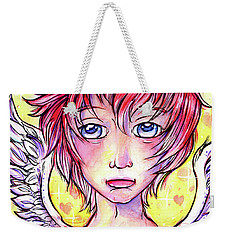 Cupid Boy Weekender Tote Bag by Nada Meeks
