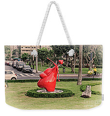 Weekender Tote Bag featuring the photograph Cupid's Heart  by Mary Machare