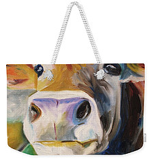 Curious Cow Weekender Tote Bag by Donna Tuten