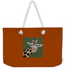 Curious Giraffe Weekender Tote Bag