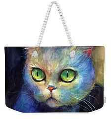 Curious Kitten Watercolor Painting  Weekender Tote Bag
