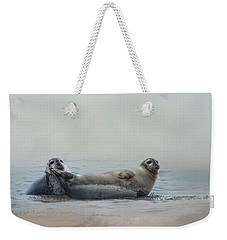 Weekender Tote Bag featuring the photograph Curious Onlookers by Robin-Lee Vieira