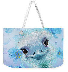 Curious Ostrich Weekender Tote Bag by Jan Matson