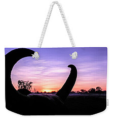 Curious Sunrise Weekender Tote Bag