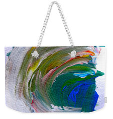 Weekender Tote Bag featuring the painting Curl by Fred Wilson
