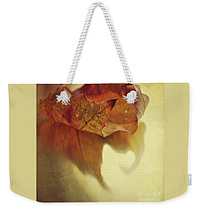 Curled Autumn Leaf Weekender Tote Bag