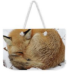 Curled Up Fox Weekender Tote Bag