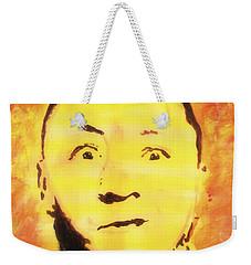 Curly Howard Three Stooges Pop Art Weekender Tote Bag by Bob Baker