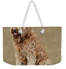 Curly Labradoodle Weekender Tote Bag by Kathy M Krause