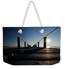 Weekender Tote Bag featuring the photograph Currituck Sunset by David Sutton