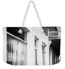 Weekender Tote Bag featuring the photograph Curtains by Cat Connor
