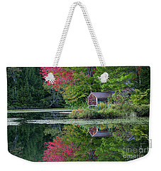 Weekender Tote Bag featuring the photograph Curtis Pond Autumn  by Alan L Graham
