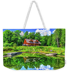 Weekender Tote Bag featuring the photograph Curtis Vance Memorial Apple Orchard by Jim Boardman