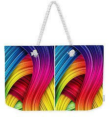 Curved Abstract Weekender Tote Bag