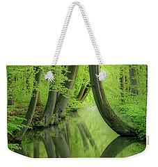 Curved Trees Weekender Tote Bag