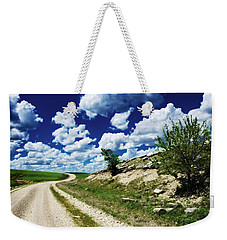 Curving Gravel Road Weekender Tote Bag