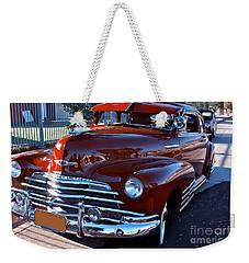 Curvy Antique Red Chevrolet Weekender Tote Bag