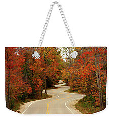 Curvy Fall Weekender Tote Bag by Adam Romanowicz