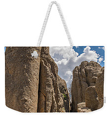 Weekender Tote Bag featuring the photograph Custer State Park Needles by Brenda Jacobs