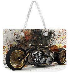 Custom Chopper Gold Weekender Tote Bag