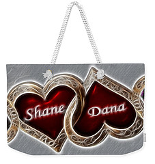 Weekender Tote Bag featuring the photograph Custom Hearts by Shane Bechler