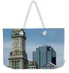 Weekender Tote Bag featuring the photograph Custom House, Boston, Ma by Betty Denise