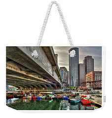 Weekender Tote Bag featuring the photograph Custom Order - Boston Rowing Center by Joann Vitali