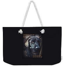 Custom Paw Print Midnight Weekender Tote Bag