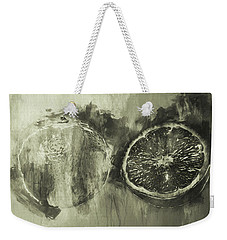 Cut And Sliced Monochrome Weekender Tote Bag