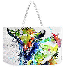 Cute Baby Goat Weekender Tote Bag by Kovacs Anna Brigitta