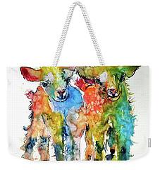 Cute Baby Goats Weekender Tote Bag by Kovacs Anna Brigitta