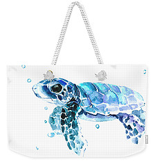 Cute Baby Turtle Weekender Tote Bag by Suren Nersisyan