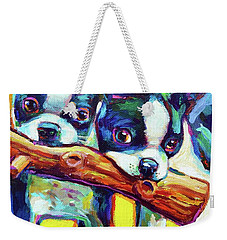 Cute Boston Terriers Weekender Tote Bag